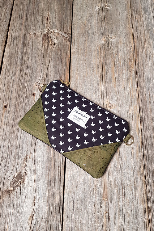 Sable Clutch - Dog Dots x Olive