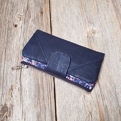 Wallet - Navy Rosa (navy cork)