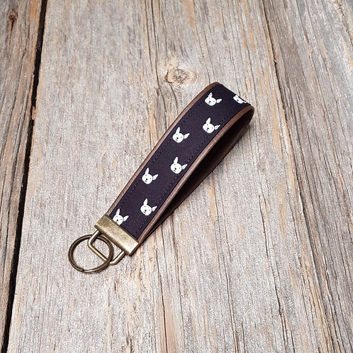 Key Fob - Dog Dots (brass)