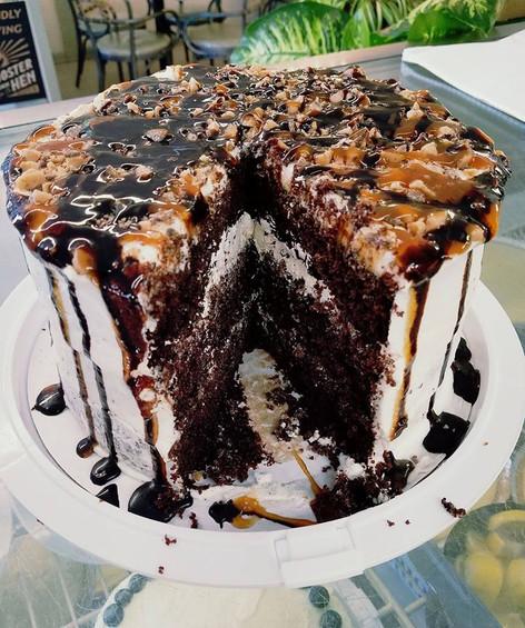 Chocolate Heath Bar Cloud Cake