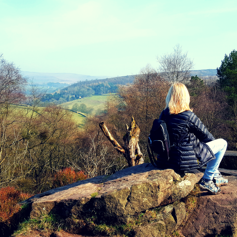 Sarah Parry looks out over the English countryside as she talks SelfCare