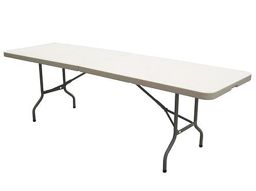 8 Ft White Bi-Folding Table