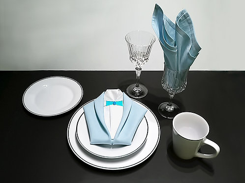 Silver Rimmed Place Setting