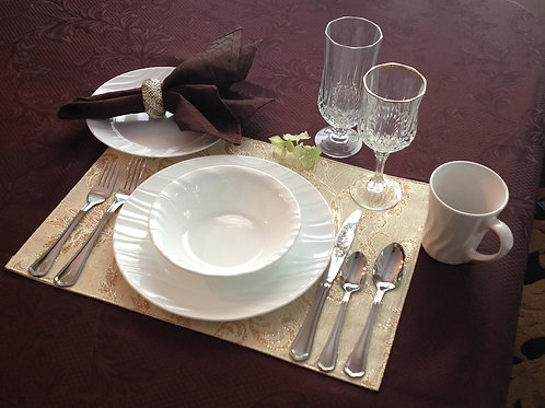 Waved Rim Place Setting