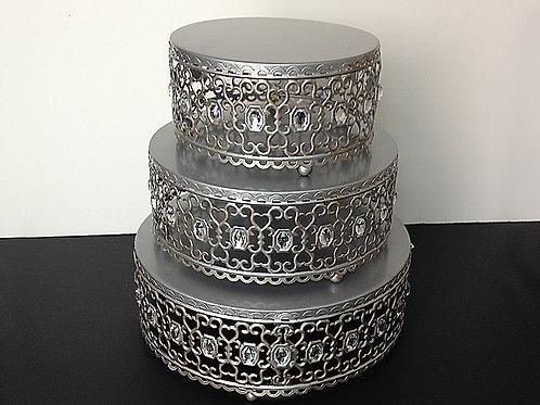 Rhinestone Cake Stand Set
