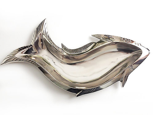 Curved Steel Fish Serving Tray