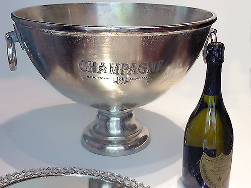 Hammered Champagne Trophy Bowl