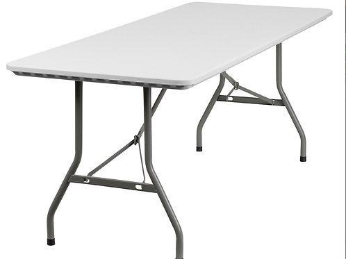 6 Ft Long White Folding Table