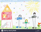 childrens-drawing-of-happy-family-and-ho