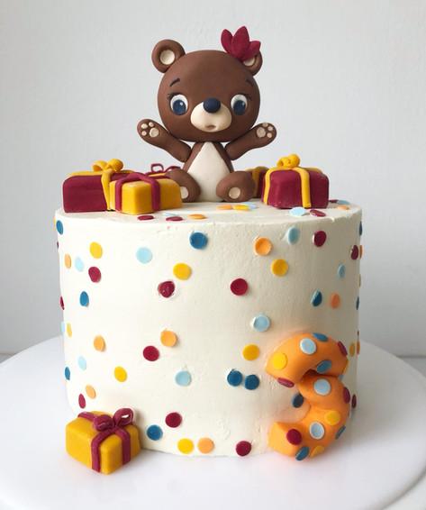 Motivtorte Geburtstagstorte kleiner Bär