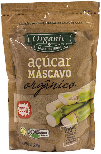 Organic - açúcar mascavo organico