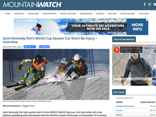 World Cup Season Cut Short By Injury- Interview with Mountainwatch