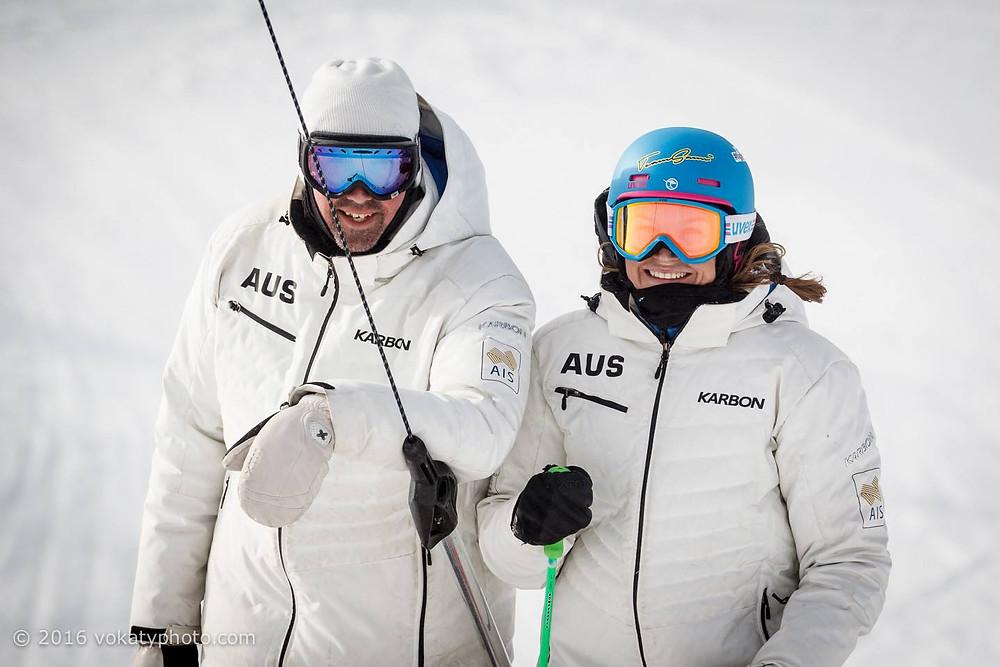 Coach Shawn Fleming and Sami at Perisher Ski Resort