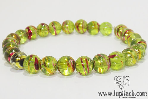 Green Clear Bracelet Stretchy