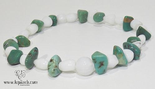 Turquoise w/White Stone