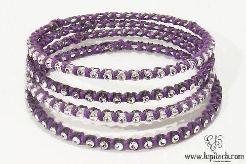 Sparkly Round Purple- Set of 4