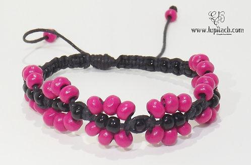 Pink-Black Flower