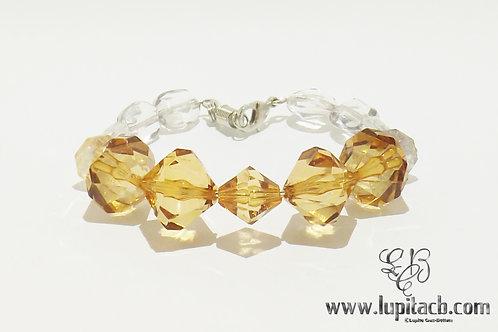 Brown & Clear - Wire Bracelet