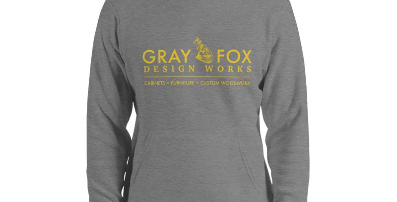 Gray Fox Fleece Hoodie