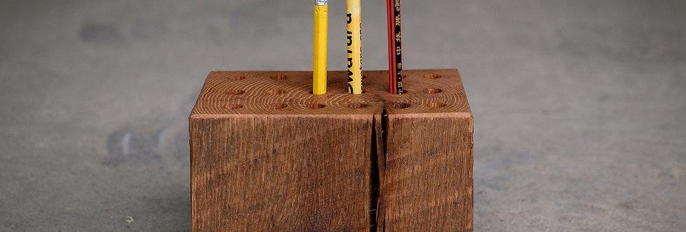 Reclaimed Oak Pencil Holder