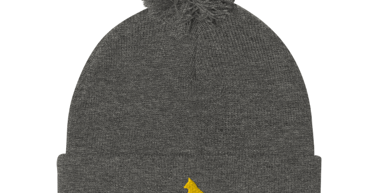 Gray Fox Knit Beanie