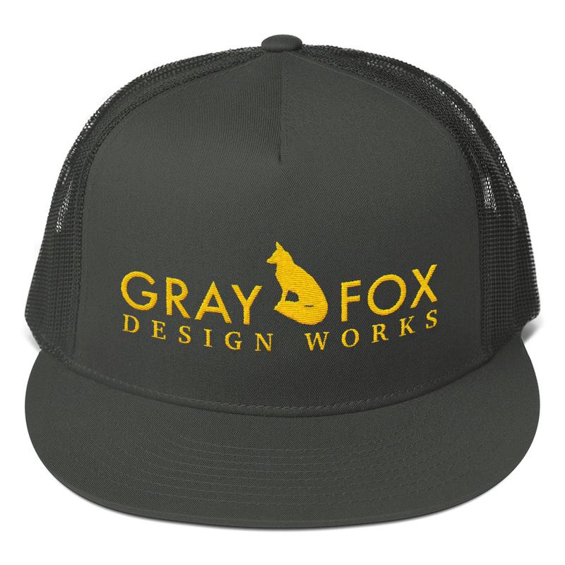 Gray Fox Trucker Hat   grayfoxdesignworks