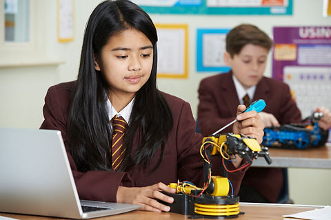 Pupils In Science Lesson Studying Roboti