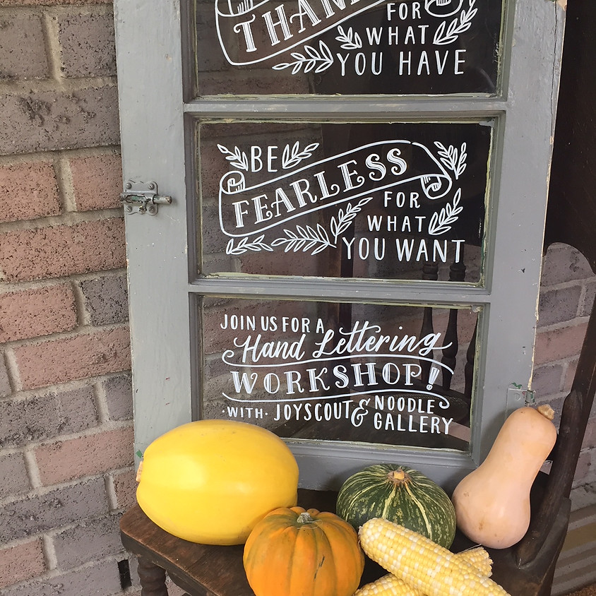 Celebrate Fall with Love Lettering