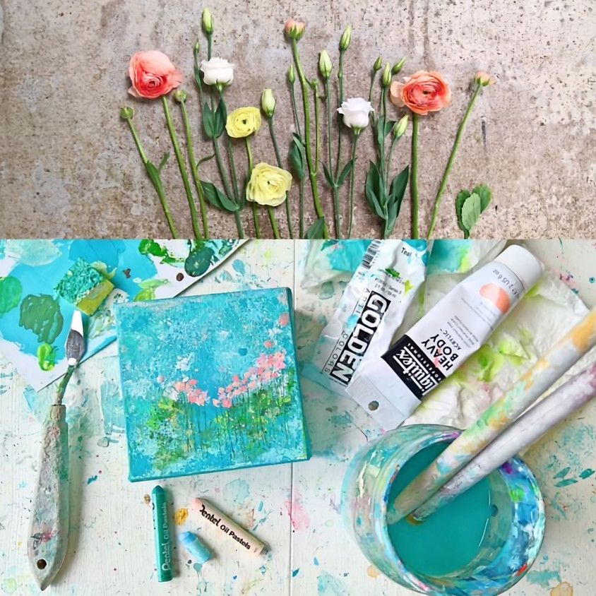 Floral Abstract Painting- handpicked & heartpainted