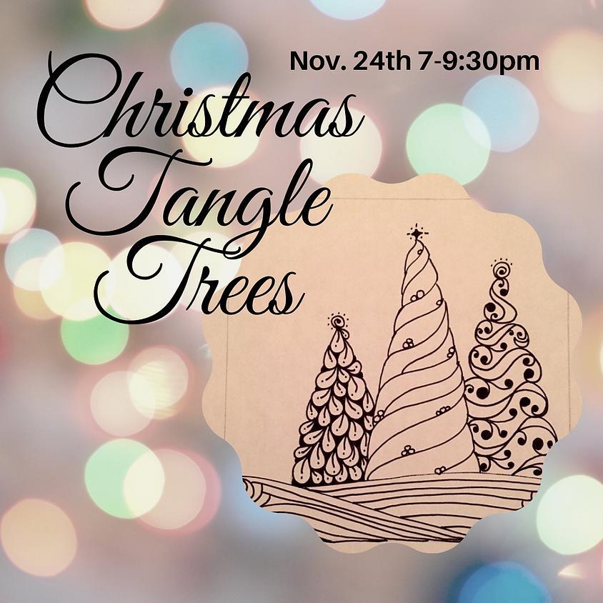 Christmas Tangle Trees on Zoom