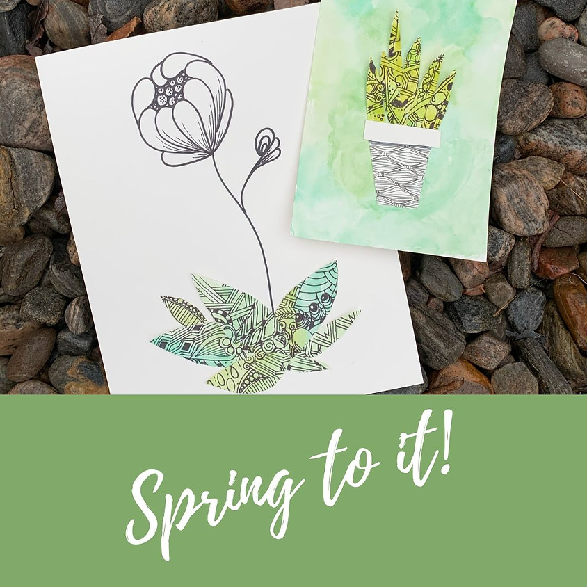 Spring to it! Floral inspired Zentangle