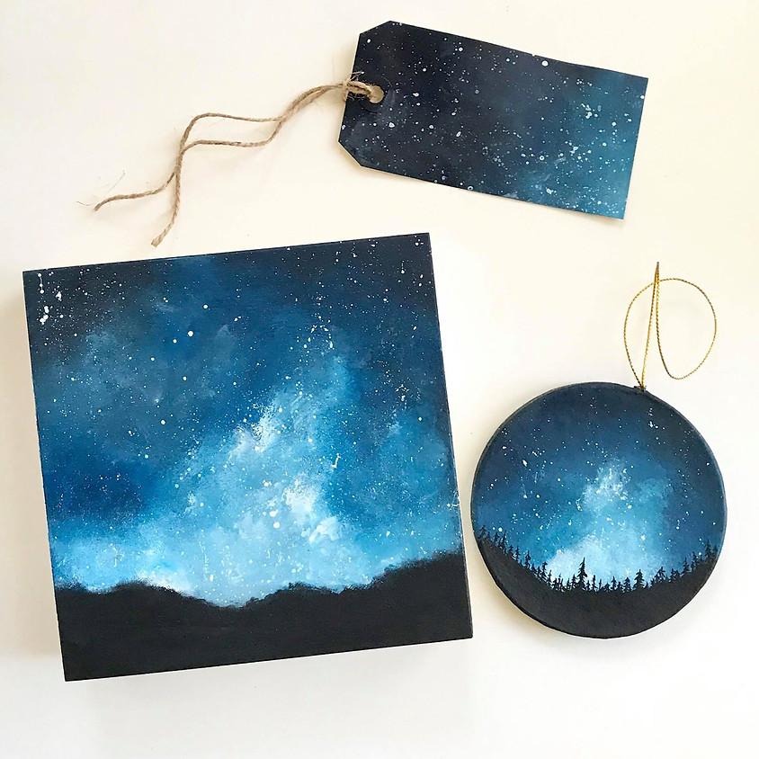 Night Sky Painting Learnshop