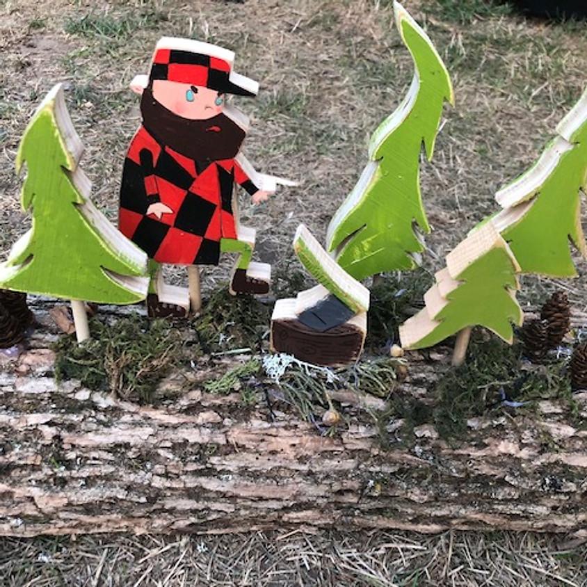 DIY Lumberjack & Lumberjane Yule Logs