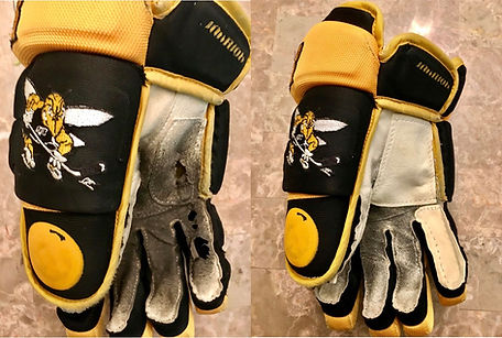 Hockey Glove Patch Palm Before & After