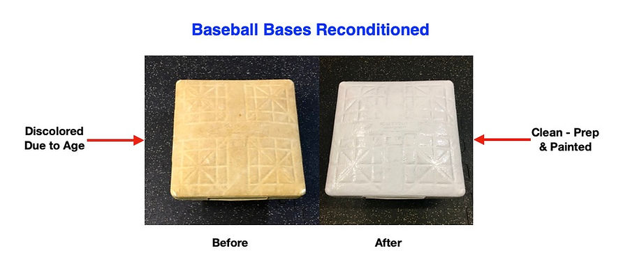 Baseball Bases Before & After