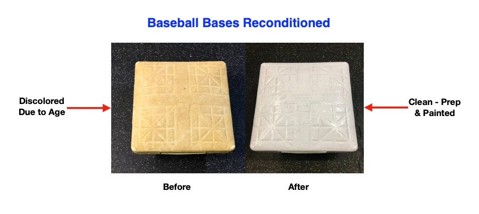 Elmhurst Youth Baseball Bases Before & After