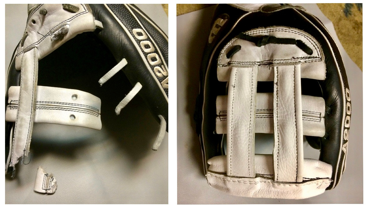 Baseball Glove Before & After