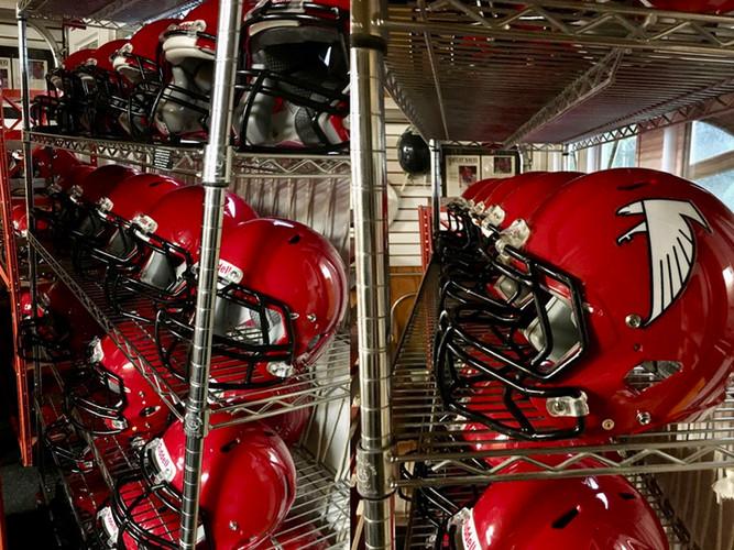 Park Ridge Falcons FB Helmets