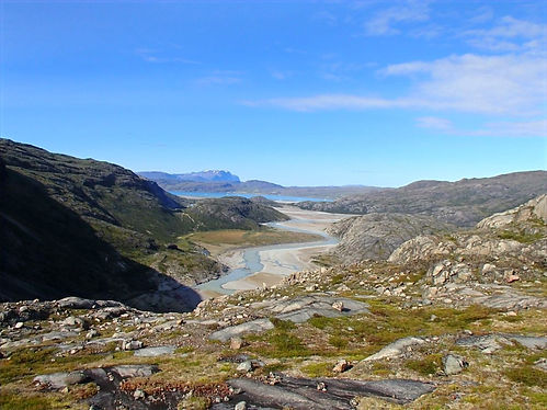 hiking in south greenland