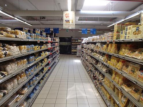 pasta in italian supermarkets