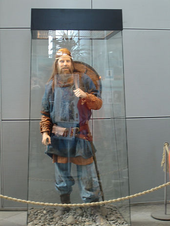 wax statue of an icelandic viking