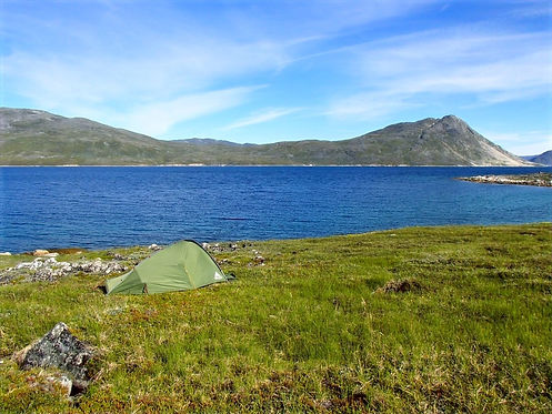 wild camping in greenland