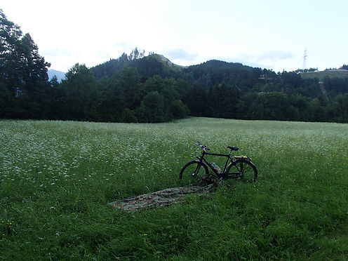 wild camping on a bicycle tour