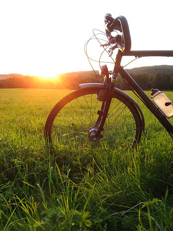 bicycle with sunset