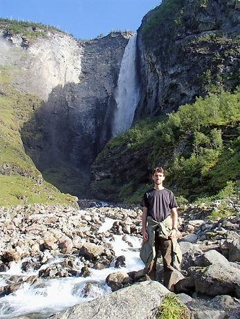 waterfall in jotunheimen