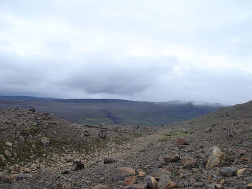 hiking in north iceland