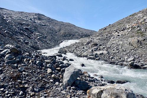 glacial river in greenland