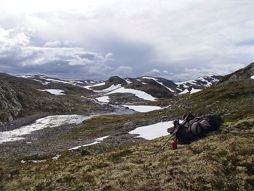 mountain plateau in jotunheimen