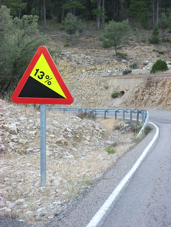steep roads