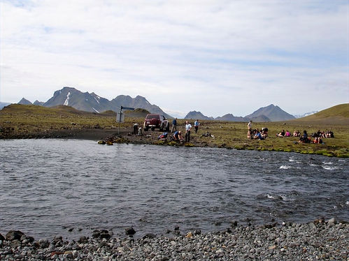 wading rivers in iceland
